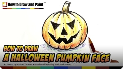 How to Draw a Halloween Pumpkin Face