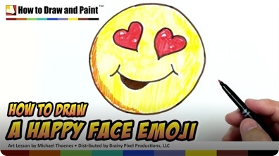 How to Draw a Happy Face Emoji