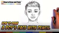 How to Draw a Boy's Face With Pencil