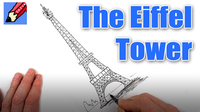 How to Draw the Eiffel Tower Real Easy