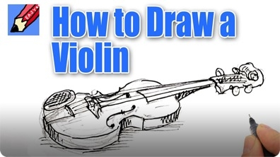 How to Draw a Violin Real Easy