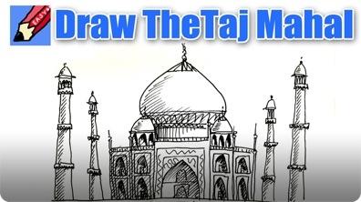 How to Draw the Taj Mahal Real Easy