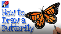 How to Draw a Monarch Butterfly Real Easy