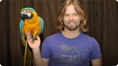This bloke saves injured birds and teaches them to fly again!
