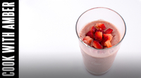 Strawberry Milkshake | Cook With Amber