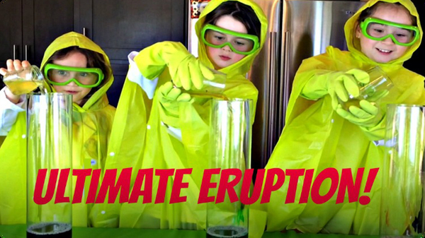 How to Make a Volcano Eruption! Kids Science Experiments