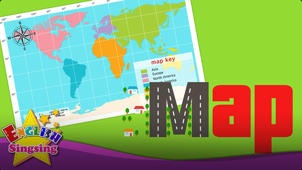 Kids vocabulary: Map - Using a Map