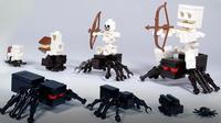 How To Build LEGO Minecraft Spiders & Spider Jockey