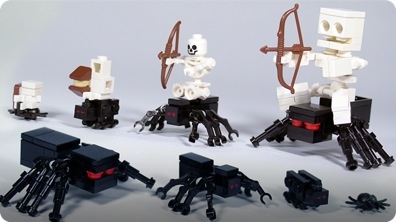 How To Build LEGO Minecraft Spiders & Spider Jockey