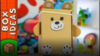 DIY Teddy Bear from Cardboard Box