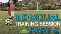 Individual Training Session Part 2 | Improve Footwork Fast