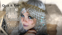 Easy Mermaid Crown Tutorial: How to make a Fishnet Headband