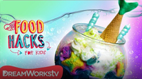 Mermaid Fishbowl Ice Cream Sundae + MORE MERMAID MUNCHIES! | FOOD HACKS FOR KIDS