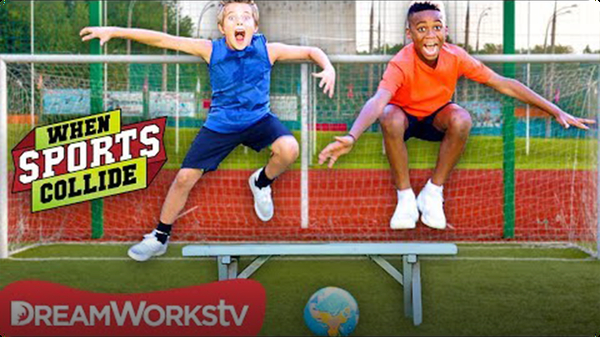 Extreme Hurdling and Penalty Kicks (Soccer + Hurdling) | WHEN SPORTS COLLIDE