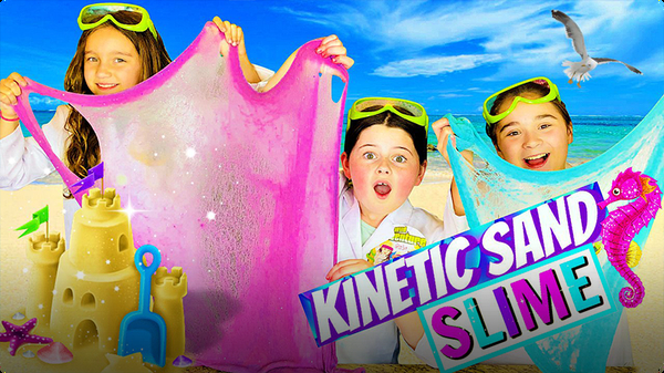 How to Make Kinetic Sand Slime with Sparkly Glitter!