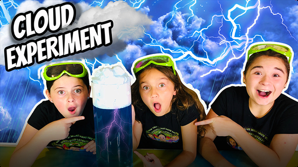 Science for Kids w/ The Wild Adventure Girls! Make a CLOUD Science Experiment