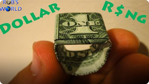 Origami Money Dollar Bill Ring - Best Step by Step Instructions | 337x600