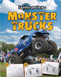Explore And Draw: Monster Trucks
